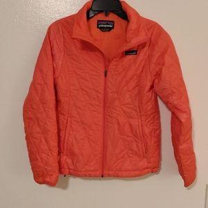 Patagonia Girls Nano Puff coral jacket